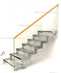 skleněné schody